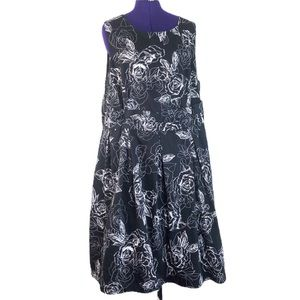 City Chic Black and White Floral Formal Dress